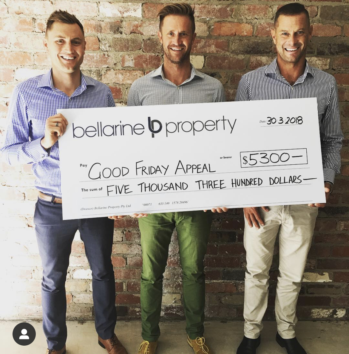 $5300 2018 Good Friday Appeal Donation